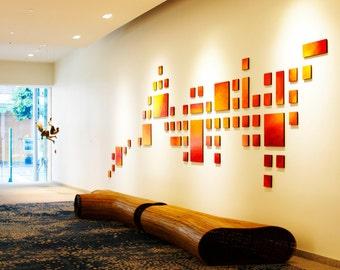 Large Art Installation   Geometric Art   Original Hospitality Art   Modern Wall Sculptures   Original Corporate Art   Rosemary Pierce