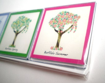 Buffalo Tree - Four Season Magnet Set