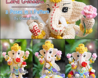 Crochet Doll Pattern - Lord Ganesha (Guichai Dolls Pattern, Amigurumi, Photo Tutorial)