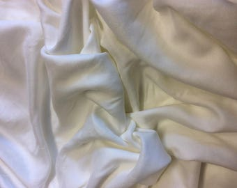 Faux silk (rayon) fabric, off white