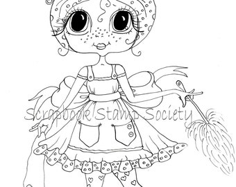 INSTANT DOWNLOAD Digital Digi Stamps Big Eye Big Head Dolls Digi Two Daisy Do All By Sherri Baldy