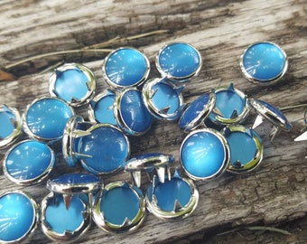 Turquoise pearl snaps, Pearl Snap Fasteners, 12 mm Pearl Snaps, size 16 pearl snaps