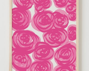 Fine Art Print. Pink Peony Flowers. June 26, 2011.