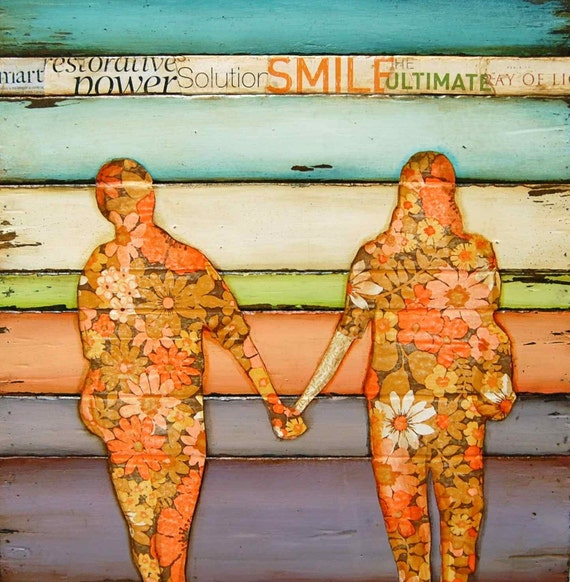 """Autumn Fall Walk -Couple Holding Hands - """"I Will Never Let Go"""" - Fine Art Print , All Sizes"""