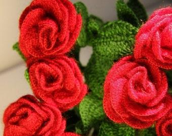 Crochet roses (single)
