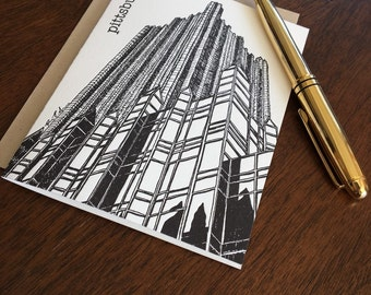 PPG Place - Pittsburgh City Series Letterpress Note Card