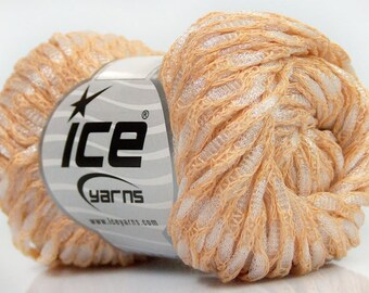 Ball of yarn 50grs (55 m) - 5mm - light salmon aig - cotton and polyester