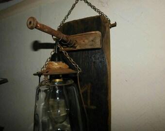 Bespoke  driftwood  wall lamp
