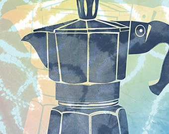 Vintage Coffee Pot Poster / Coffee Poster / Illustration / Poster