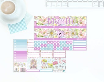 Erin Condren Vertical Monthly Kit - Spring has Sprung - Any Month! *NEW PREMIUM PAPER!*
