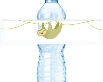 PRINTABLE Sloth #Bottle #Labels - (Instant Download) #DIY #digital #printable #file