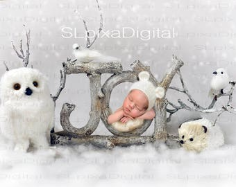 Digital background digital backdrop newborn christmas winter #24