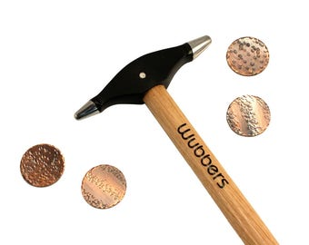 Wubbers Artisan's Mark Fine Tip Embossing Hammer, with FREE Copper Discs