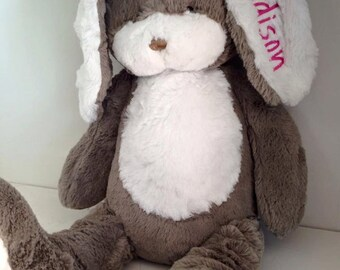 Personalized Easter BUNNY/ monogrammed rabbit/ stuffed animal/ plush bunny/ 18 inch bunny