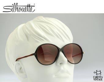 Silhouette M 3112, Vintage oversized round sunglasses, 90s Rare and unique / NOS
