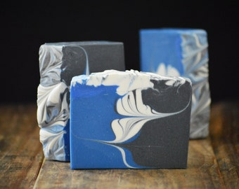 Werewolf Soap | Manly Scented Cold Process Soap Bar with Activated Bamboo Charcoal, Artisan Gift For Him, Homemade Vegan Soap for Men, Soap