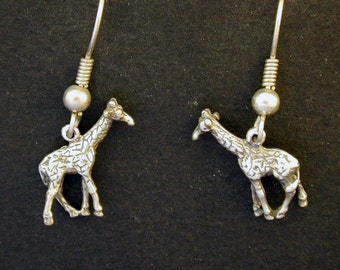 Sterling Silver Giraffe Earrings egOSQM
