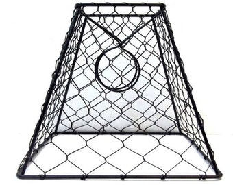 Chicken Wire Lampshade Clip On Small Black Hex Wire Lamp Shade