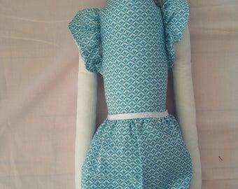 Blue & White Rag Doll