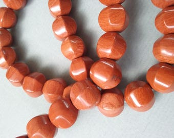 1 lot of 5 red Jasper beads natural gemstone 10x10mm lanterns - REF. 7934156
