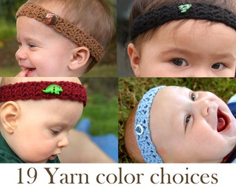 Baby Boy Crochet Headband / Baby BoyBand / Newborn Boy Headband / Newborn Boy Photo Prop, Boy Baby Shower Gift, Boy Accessory, Baby Headband