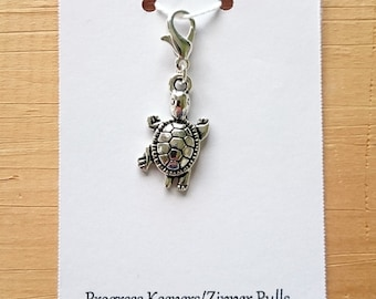 Turtle Progress Keeper, Knitting Marker, Crochet Stitch Marker, Removable Stitch marker, Zipper Pull for your Project Bag