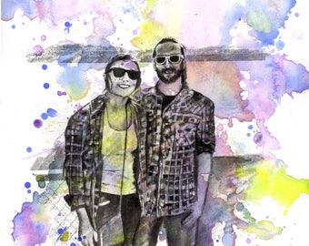 Custom Portrait Painting Your Favorite Anything in a Splash of Color Custom Family Portrait Painting Personalized Portrait Wall Art