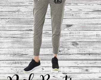 Monogrammed Sweatpants, Monogram Joggers, Monogrammed Gifts, Bridesmaid gift, Womens Jogger Sweatpants, Gifts for Her, Charles River Apparel