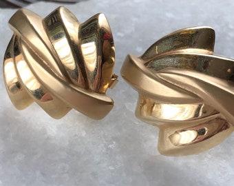 Vintage gold omega earrings