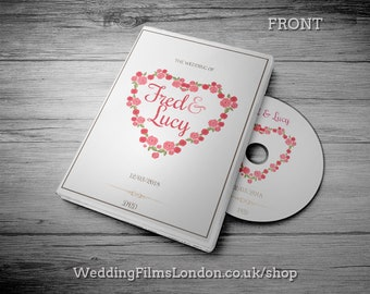 """Custom CD DVD Box, Personalised dvd Case - Wedding CD dvd Music Video Wedding Photographs dvd/cd Case, Cover and Disc. Printed Disc. """"N1"""""""