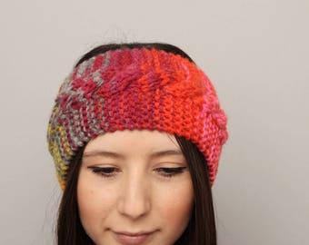 Knit earwarmer headband