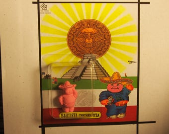 garbage pail kids Mexico Bautista Chichen Itza custom cheap mashup urban art toy