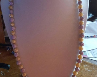 peach and purple necklace