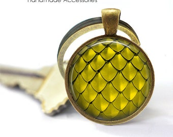 DRAGON SCALES • Gold Dragon Scales • Mermaid Scales • Fish Scales • Key Ring • Keychain • Gift Under 20 • Made in Australia (K671)