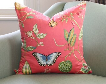 Coral Tropicana Cushion Pillow Cover 20 Inch