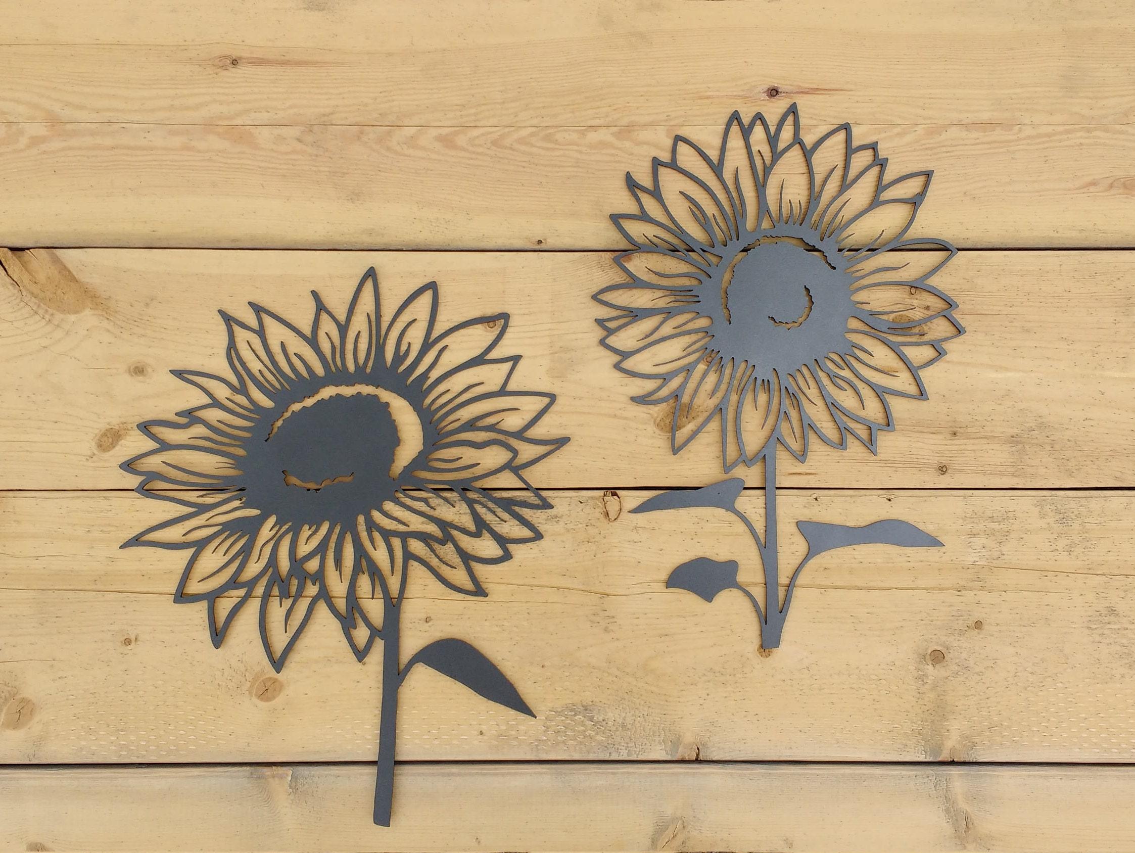 Metal Sunflower Sunflower Flower Wall Art Decoration