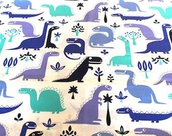 Fabric cotton dinosaur 50x70cm