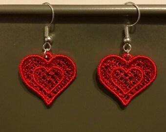 FSL Heart Earrings