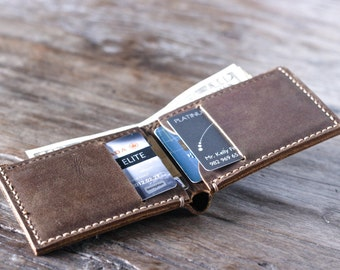 Wallet, Gift Ideas for Men, Father's Day Gift, Leather Wallet, Groomsmen Gifts, Gift Ideas for Him, Mens Leather Wallets - Listing # 024
