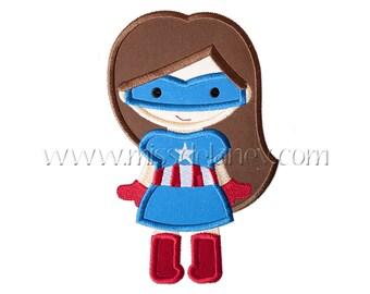 Captain America Girl 1 Applique Design