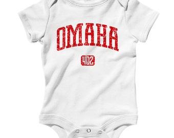 Baby Omaha 402 Romper - Infant One Piece - NB 6m 12m 18m 24m - Omaha Baby, Nebraska Baby - 3 Colors