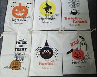 Personalized Halloween Sack, Halloween Bag, Halloween Bucket, Trick or Treat Sack, Trick or Treat Bag, Halloween, Pumpkin, Witch,