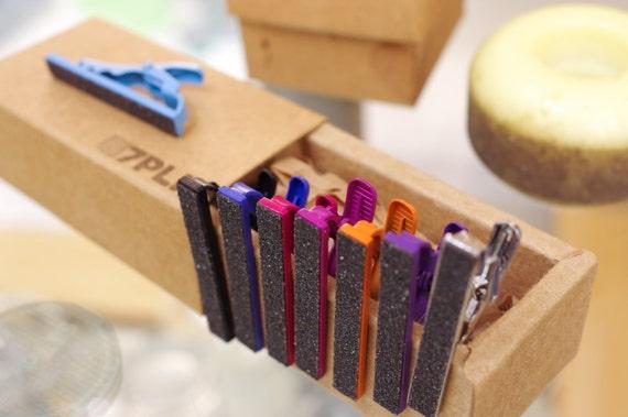 Recycled tie clip GRIP DECK used SKATEBOARDS orange red brown black blue brown purple handmade