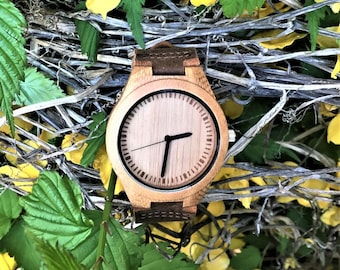 Wood Watch, Engraved Wood Watch, Anniversary Gifts for Boyfriend, Personalized Watch, Mens Wooden Watch, Engraved Watch, Wood Watch Men