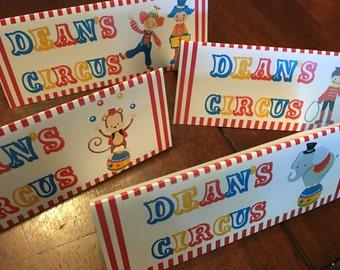 Circus Food Tent Cards