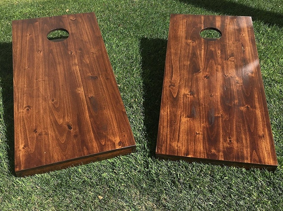 Wooden Corn Hole Game Bean Bag Toss Game Corn hole Rustic Solid Hardwood NEW 38
