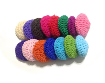 Assorted Crocheted Nylon Netting Dish Scrubbies-Mystery Lot Of Fifteen