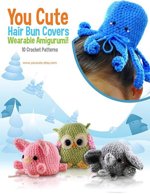Crochet Pattern Amigurumi Hair Bun Cover Pattern Ebook