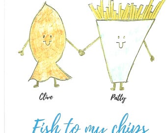 Personalised YOU ARE THE print Fish & Chips