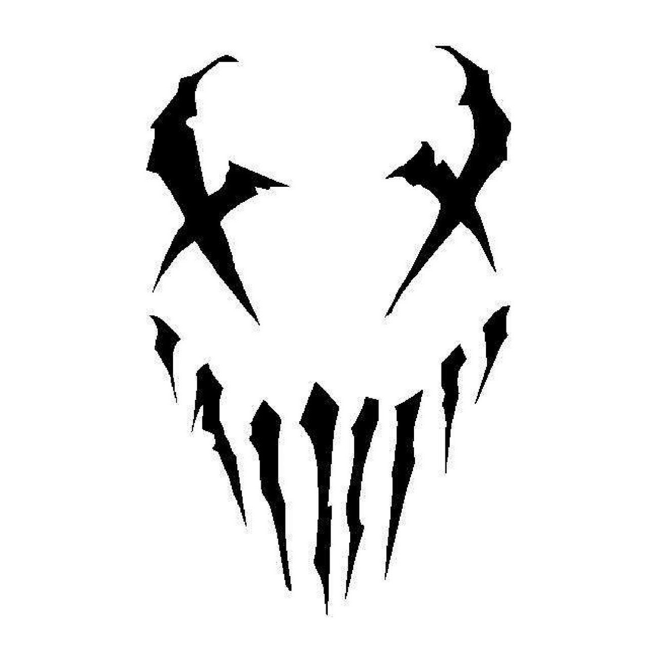 Demon Skull Stencil on shark images free